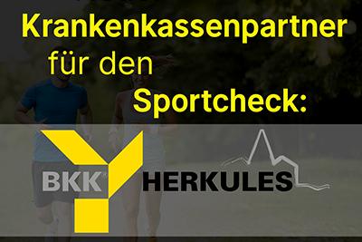 Bild der Meldung: DGSP begrüßt neue Partner-Krankenkasse für den Sportcheck: BKK Herkules!