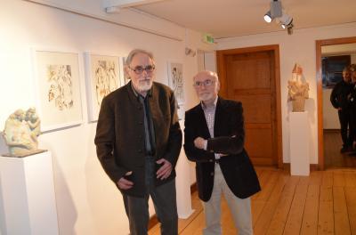 Vorschaubild zur Meldung: Skulpturen  Plastiken  Zeichnungen - Ausstellung von Wolfgang Kleiser und Josef Rombach