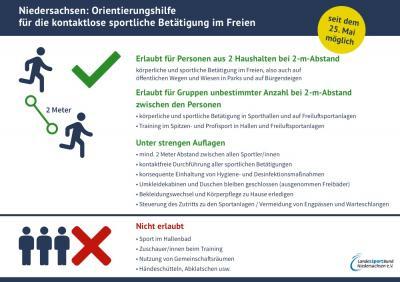 Foto zur Meldung: Kontaktloser Sport in Niedersachsen