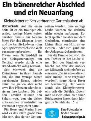 Bericht Hellweger Anzeiger vom 28.05.2020