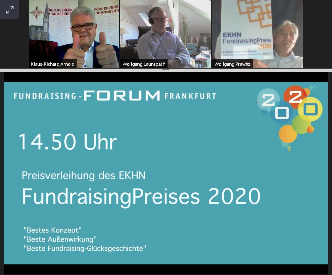 Bild der Meldung: Fundraisingpreis 2020 für den Förderverein zur Erhaltung der Johanneskirche e. V.