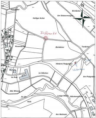 Treffpunkt siehe Karte!