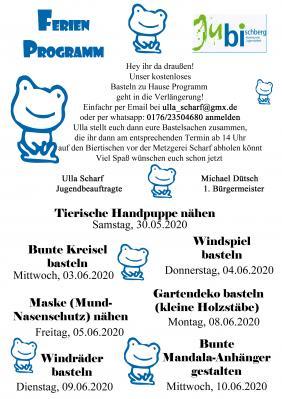 Ferienprogramm 2020 Pfingsten