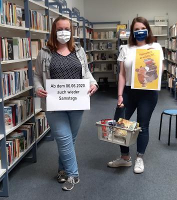 Die Stadtbibliothek hat jetzt auch wieder Samstags geöffnet I Foto: Stadtbibliothek