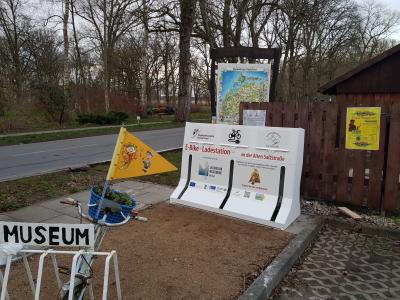 Vorschaubild zur Meldung: E-Bike-Ladestation am Salzmuseum