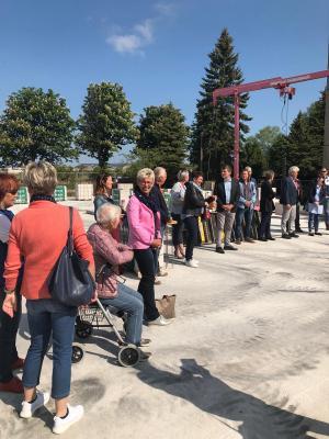 Vorschaubild zur Meldung: Grundsteinlegung für neue Dahlien-Grundschule Bad Sülze