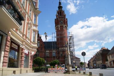 Vorschaubild zur Meldung: Sanierungsarbeiten am Dahmer Rathausturm