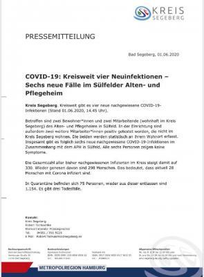 Foto zur Meldung: Pressemitteilung vom Kreis Segeberg v. 01.06.20