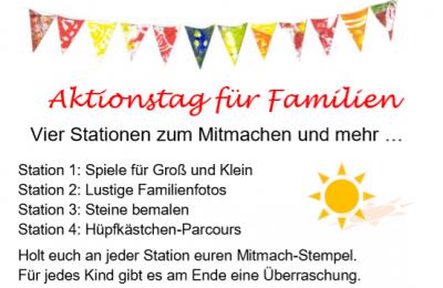 Vorschaubild zur Meldung: Familienzentrum: Aktionstag verschoben auf 03. Juli