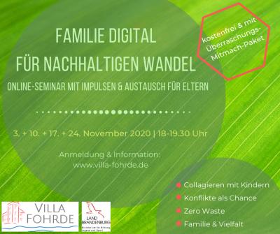 Vorschaubild zur Meldung: Familie digital für nachhaltigen Wandel