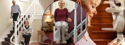 Hier finden Sie eine vielfältige Auswahl an Treppenliften für gerade Treppen oder auch kurvige Treppen von Aufzug LuS