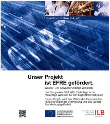 Foto zur Meldung: Neubau der Photovoltaik-Anlage auf der Kläranlage Wittstock schreitet voran