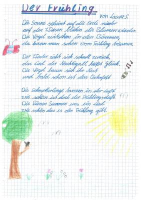 Gedicht von Laura S. - Klasse 5