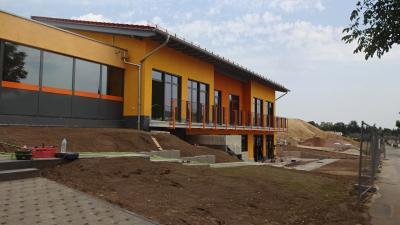 Die neue KiTa - die Außenanlagen sind noch in Arbeit