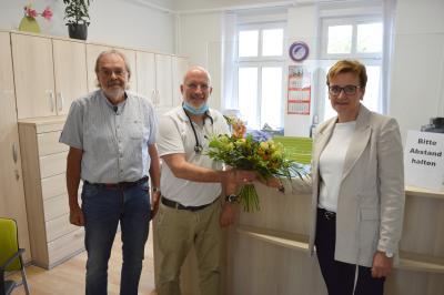 (von links) Dr. Torsten Bock, Dr. Christoph Schimmelpfennig und Constanze Stehr I Foto: Martin Ferch