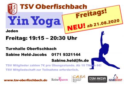 Bild der Meldung: Yin Yoga! NEU beim TSV!