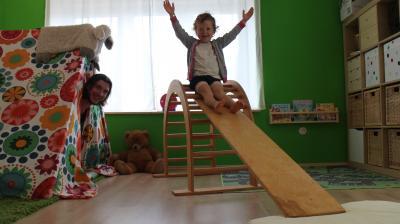 Gut betreut in Kindertagespflege - Tagesvater Marcel Sonnenberg in Aktion