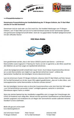 Pressemitteilung HSG Main-Nidda