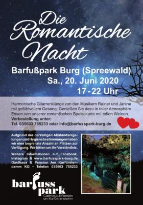 20. Juni 2020 Romantische Nacht findet dieses Jahr doch statt