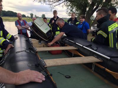 Bild der Meldung: Ausbildung: Wasserrettung am 11.06.2020