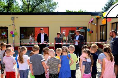 Foto zur Meldung: Kitaanbau in Damsdorf eingeweiht