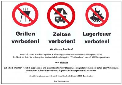 Vorschaubild zur Meldung: Wildes Campen verboten