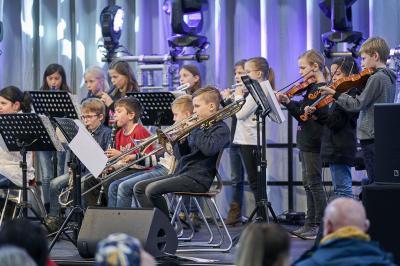 Schüler der Ketteler-Schule bei einem Auftritt auf Zollverein; Foto: JeKits-Stiftung