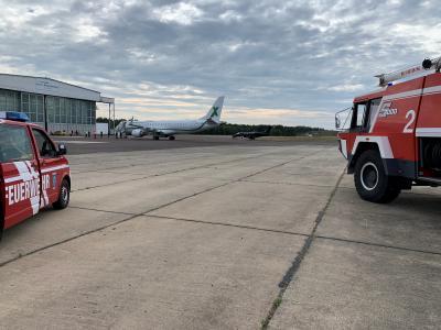 Bild der Meldung: Einsatz auf dem Airport Neuhardenberg