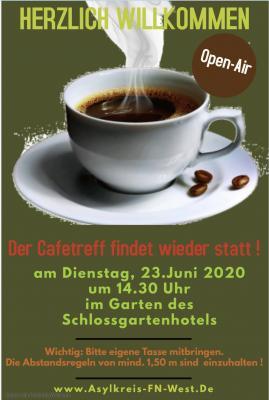 Der Cafetreff findet wieder statt ab 23.Juni!
