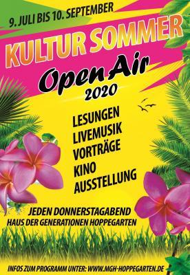 Vorschaubild zur Meldung: Kultur Sommer Open Air 2020