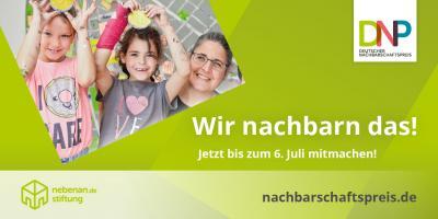 Foto zu Meldung: Startschuss für den Deutschen Nachbarschaftspreis 2020: Jetzt bis 06. Juli bewerben!