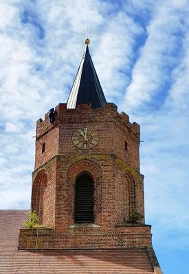 Foto zur Meldung: Sankt Marienkirche - Arbeiten in luftiger Höhe