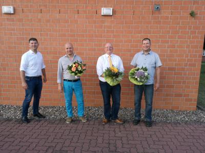 von links nach rechts: Christian Pust (Amtsdirektor), Arne Breder (1. Vorsitzender), Matthias Rehder (Vorsitzender), Heiko Gräning (2. Vorsitzender)