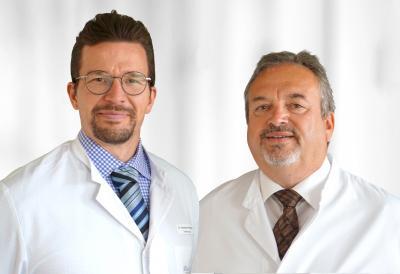 Chefarzt  Dr. med. Alexander Höinghaus (links) und Chefarzt  Dr. med. Gert Schindler bieten ein umfangreiches Spektrum operativer und konservativer Urologie