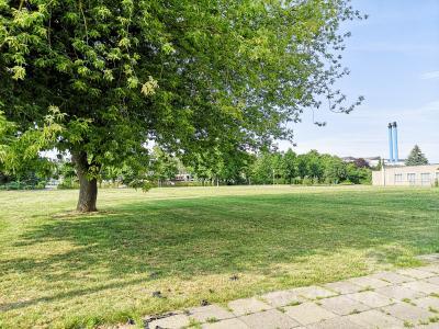 Mit dem Abriss der beiden Wohnblocks entstand an der Schillerstraße eine große Freifläche.  Foto: Beate Vogel