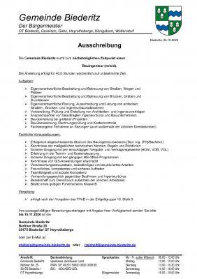 Ausschreibung - Bauingenieur/in (Seite 1)