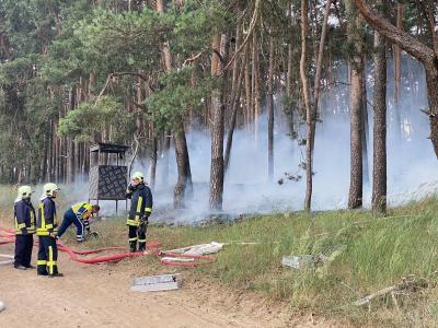 Foto zu Meldung: Landwirt half beim Löschen eines Waldbrandes bei Trechwitz