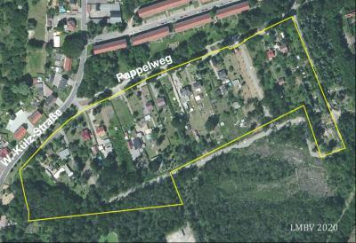 Das Luftbild aus dem Jahr 2020 zeigt die durch das aktuelle Gutachten bewerteten Flächen. (Foto LMBV)