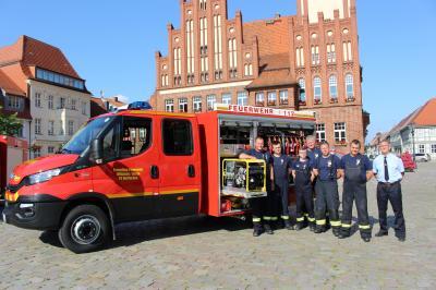 Vorschaubild zur Meldung: Neues Einsatzfahrzeug für die Feuerwehreinheit Berlinchen