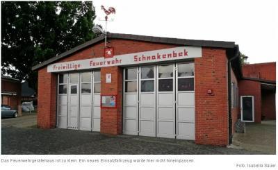 Vorschaubild zur Meldung: Feuerwehr Schnakenbek braucht Platz für neues Fahrzeug