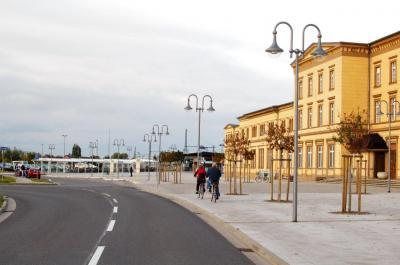 Die Neugestaltung des Bahnhofsumfeldes ist eines von 26 nationalen Projekten des Städtebaus