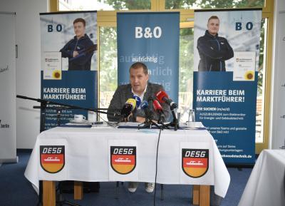 Matthias Große bei der DESG-Pressekonferenz in Berlin. Foto: Matthias Koch