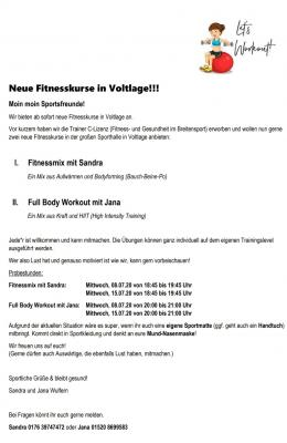 Vorschaubild zur Meldung: Neue Fitnesskurse in Voltlage
