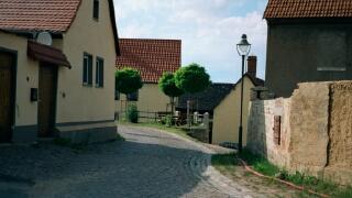 Ergebnis der Dorferneuerung in Größnitz (Foto aus 1997)