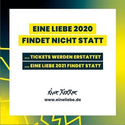 """Vorschaubild zur Meldung: Festival """"EINE LIEBE 2020"""" ist abgesagt"""