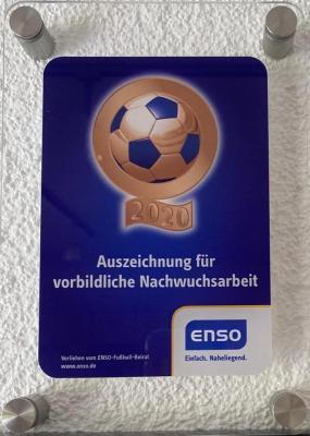 Vorschaubild zur Meldung: ENSO Fußball-Nachwuchs-Förderpreis 2020 - Ausgezeichnete Nachwuchsarbeit der SG Wilthen