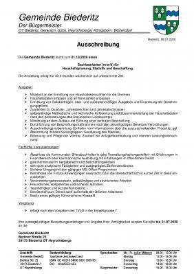 Foto zur Meldung: Sachbearbeiter (m/w/d) für Haushaltsplanung, Statistik und Beschaffung gesucht!