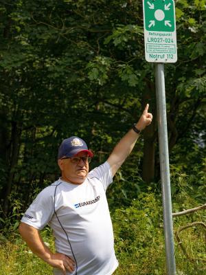 Foto zur Meldung: Forstliche Rettungspunkte - echt stille Helfer