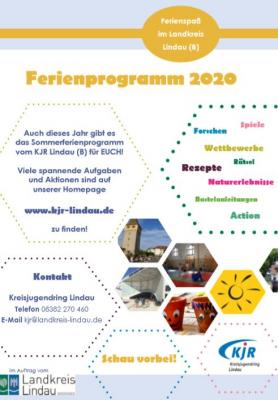 Plakat Ferienprogramm