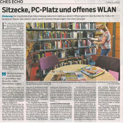 Vorschaubild zur Meldung: Stadtbibliothek Müncheberg schafft neuen Service